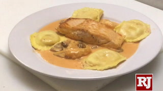 Seafood dishes being made at Pasta Shop near Las Vegas