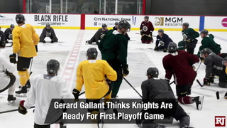 Golden Edge: Knights Prep For First Playoff Game