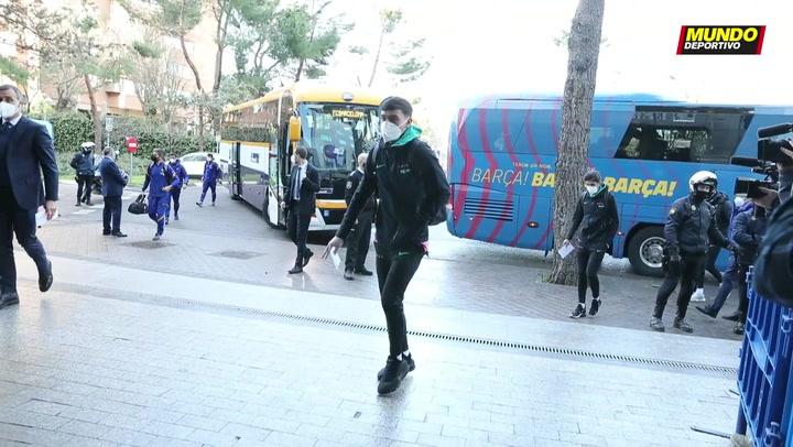 El Barça ya está en Madrid para medirse al Rayo esta noche en Copa