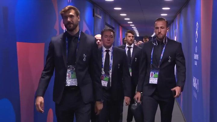 Los jugadores del Tottenham ya están en el Wanda para disputar la final de la Champions