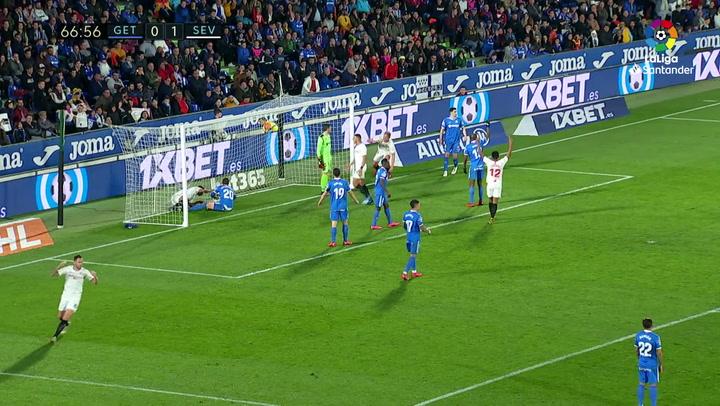 Gol de Fernando (0-2) en el Getafe 0-3 Sevilla