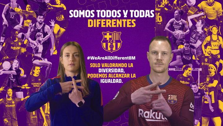 El Barça se une a la celebración al Día Internacional de la Mujer