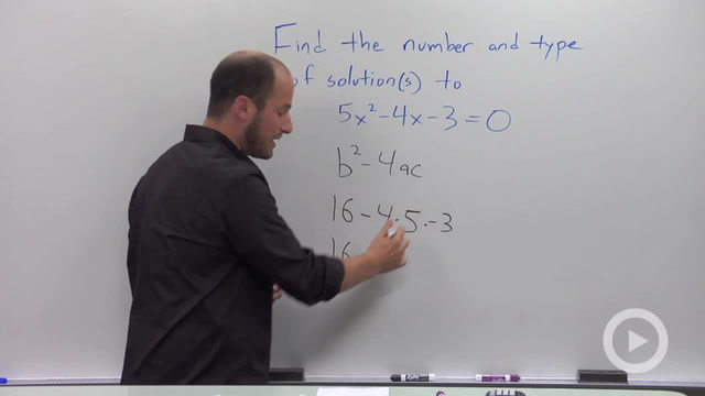 The Discriminant of a Quadratic Equation - Problem 1