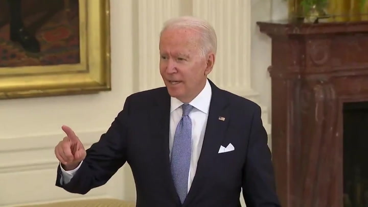 'That was true at the time': Biden snaps at Fox reporter accusing him of mixed messaging