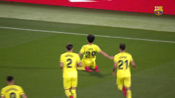 Barça B-Villarreal B. Resumen del partido de Segunda B