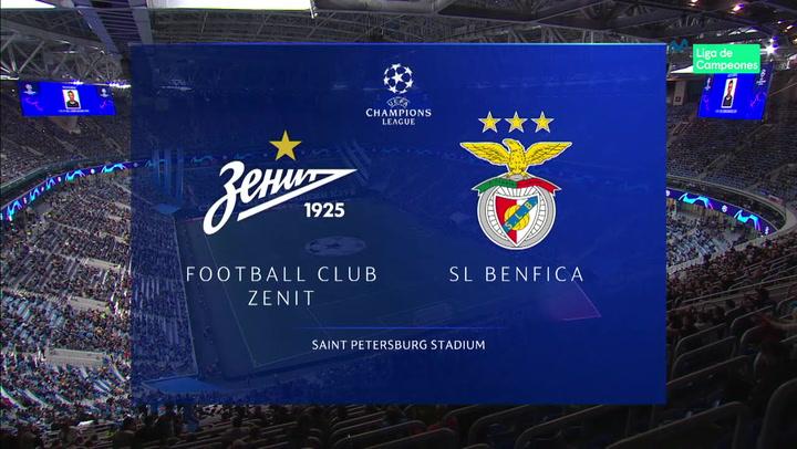 Champions League: Resumen y Goles del Partido Zenit - Benfica