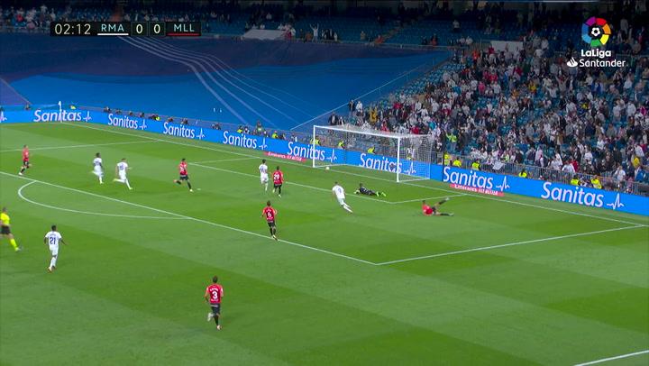 Gol de Benzema (1-0) en el Real Madrid 6-1 Mallorca