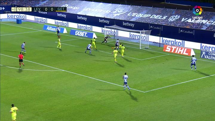 Gol de Coke (1-0) en el Levante 1-0 Getafe