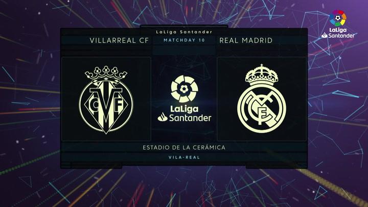 LaLiga Santander (J10): Resumen y goles del Villarreal 1-1 Real Madrid