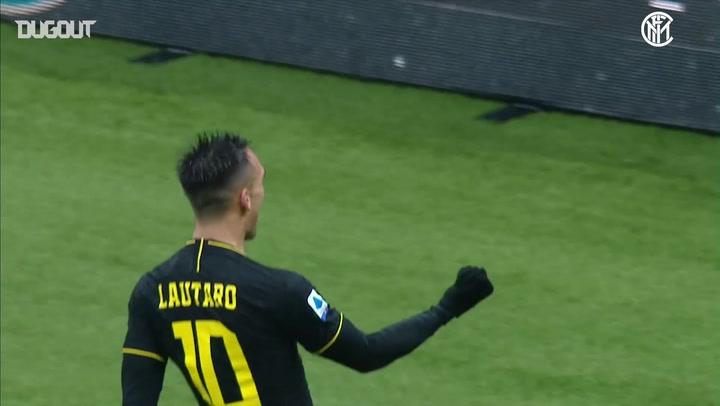 Lautaro Martínez double sinks SPAL