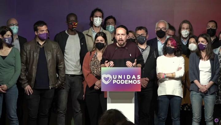 Pablo Iglesias anuncia que deja la política