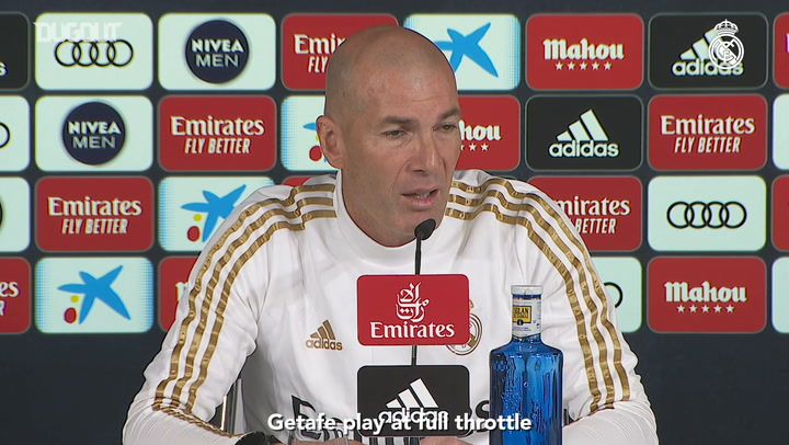 Zidane: 'The most important thing is our motivation to play against Getafe'