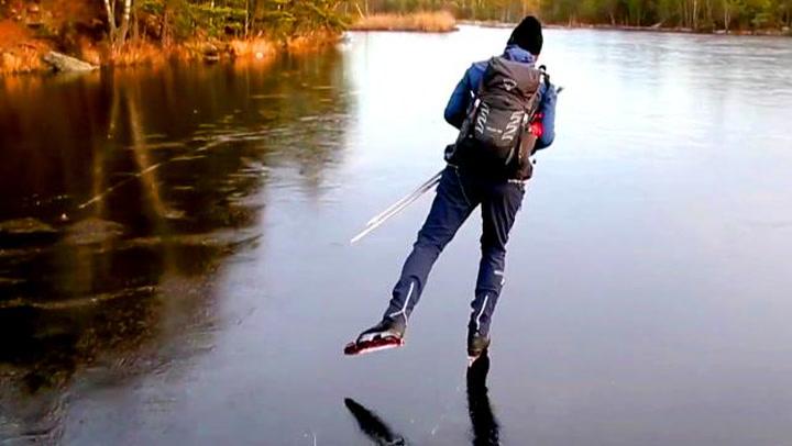 Svensker på skøyter avslører isens skjulte musikk