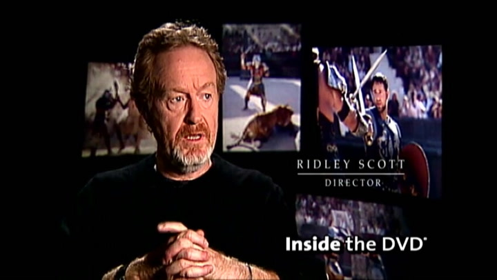Gladiator: Extended Edition Inside The DVD
