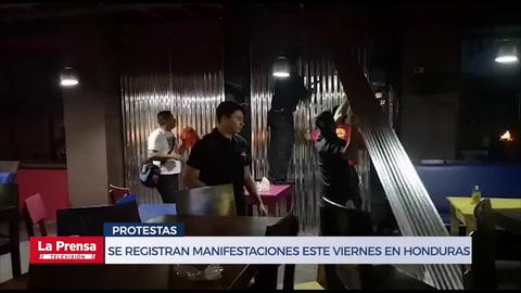Se registran manifestaciones este viernes en Honduras