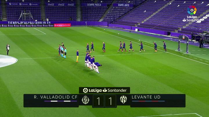 LaLiga Santander (J11): Valladolid 1-1 Levante