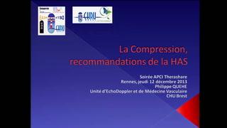 Recommandation de la HAS sur les différents types de compression