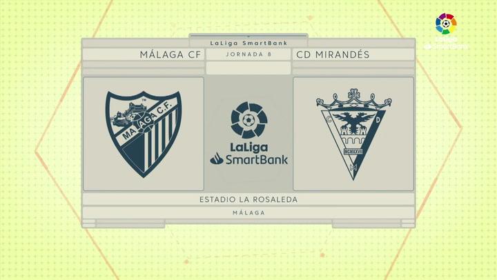 LaLiga SmartBank (J8): Málaga 1-1 Mirandés