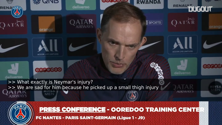 Tuchel : Neymar will be back after the international break