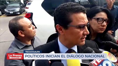 Políticos inician el diálogo nacional