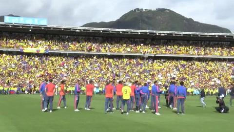 Fiesta: Colombia recibe como héroes a sus seleccionados