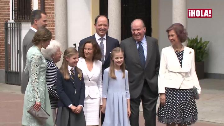 La llegada de la infanta Sofía a la parroquia