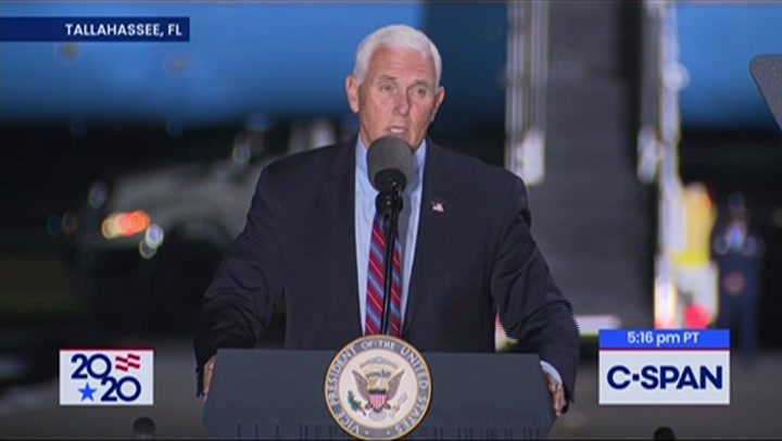 Pence to Tallahassee, FL Rallygoers: Biden a 'Trojan Horse' for the Radical Left -- 'Choice in This Election Is Whether America Remains America'
