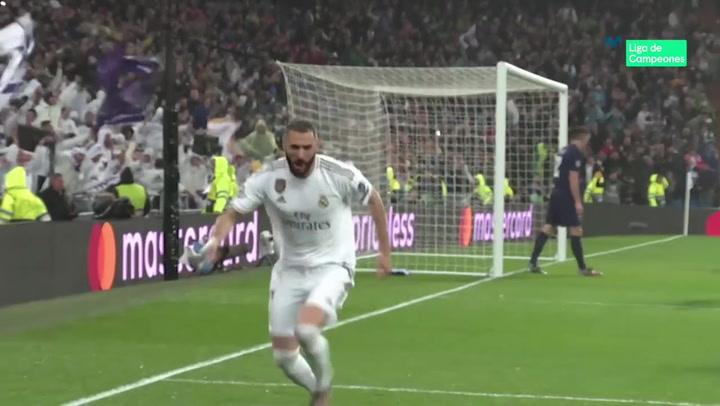 Champions League: Real Madrid - PSG. Gol de Karim Benzema (1-0)
