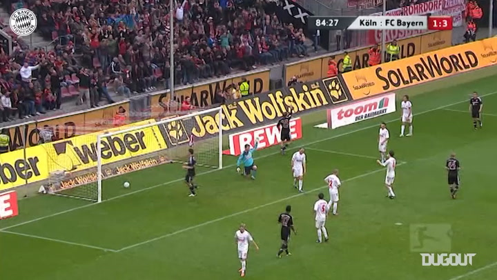 Thomas Müller's incredible back-heel finish vs FC Köln