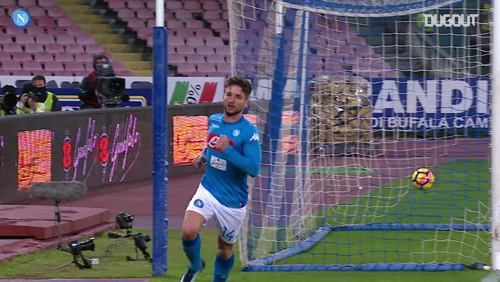 Dries Mertens finishes off brilliant Napoli goal vs Lazio