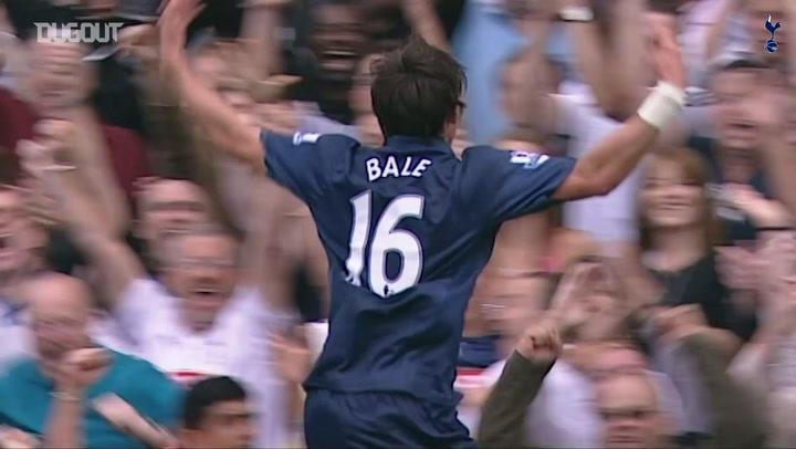 Gareth Bale's first Spurs goal
