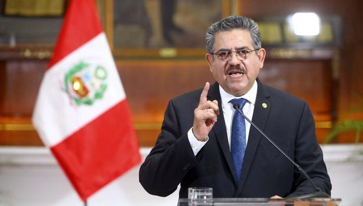 Manuel Merino dimite como presidente de Perú, tras menos de una semana en el poder