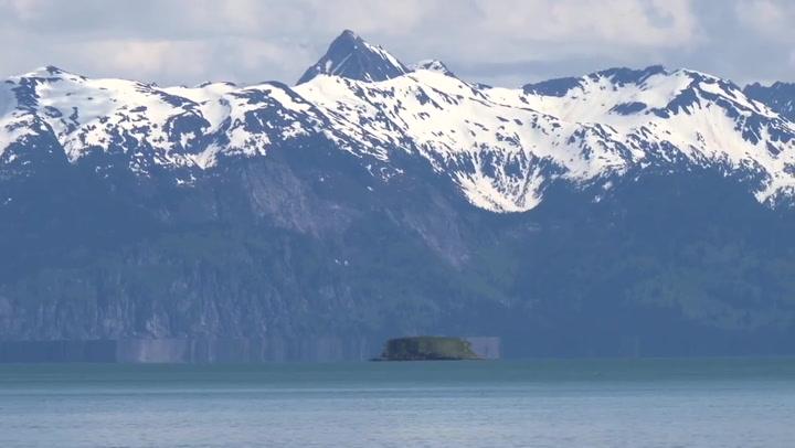 Optical illusion creates 'UFO mirage' over sea in Alaska