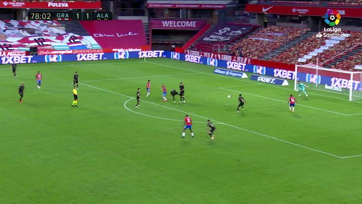 Gol de Machís (2-1) en el Granada 2-1 Alavés