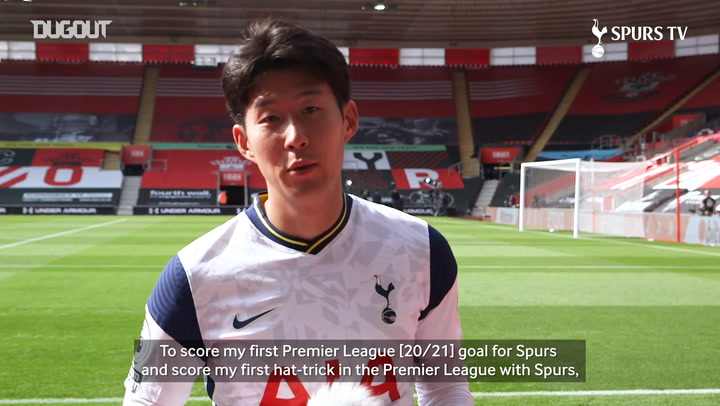 Heung-Min Son reacts to his four goals vs Southampton