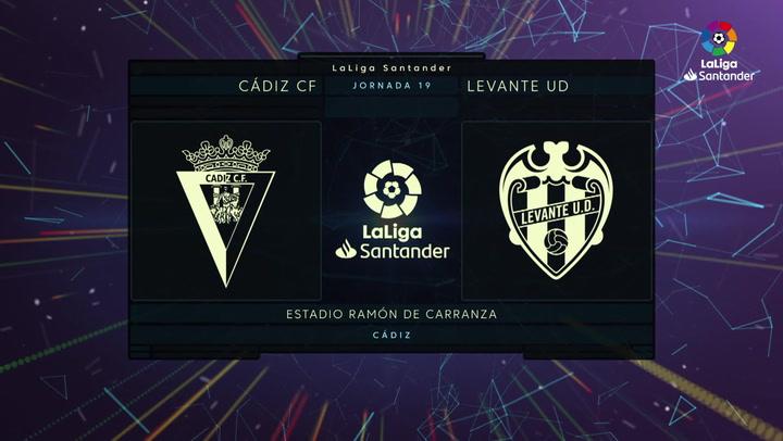 LaLiga Santander (Jornada 19): Cádiz 2-2 Levante