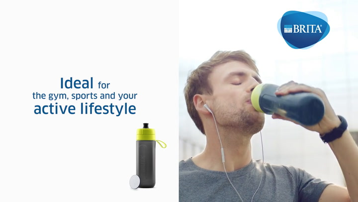 Preview image of Brita Fill & Go Active Water Filter Bottle, 600ml video