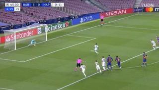 ¡Napoli descuenta ante el Barcelona en la Champions League!