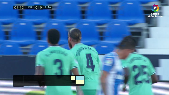 Gol de Sergio Ramos (0-1) en el Leganés 2-2 Real Madrid