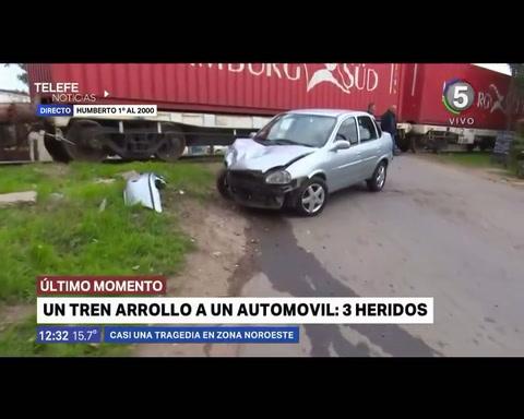 Se le paró el auto en medio de las vías y el tren lo atropelló