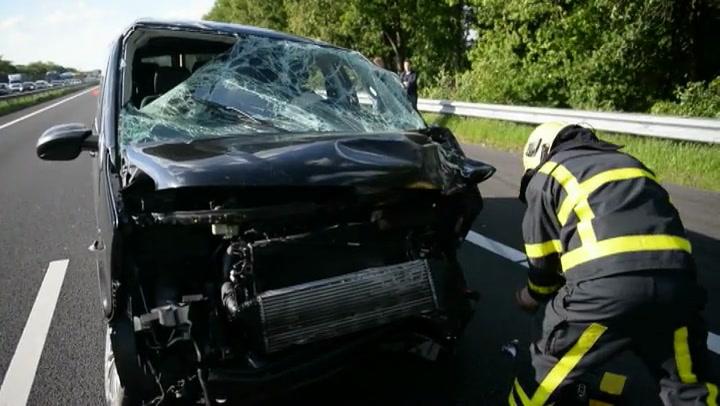 Ravage op A73 na ongeval bij Horst
