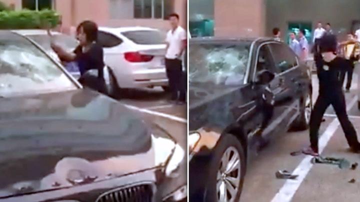 Tok ektemannen på fersken – og hamret løs på millionbilen i hevn