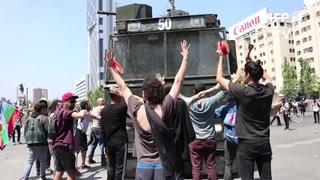 Protestas y saqueos en un Chile desbordado de furia