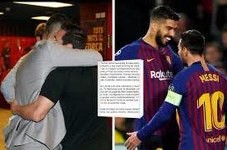 Messi se despide de Luis Suárez con otra fuerte crítica contra la directiva del Barcelona