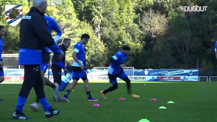 Sampdoria back on the field ahead of Bologna game