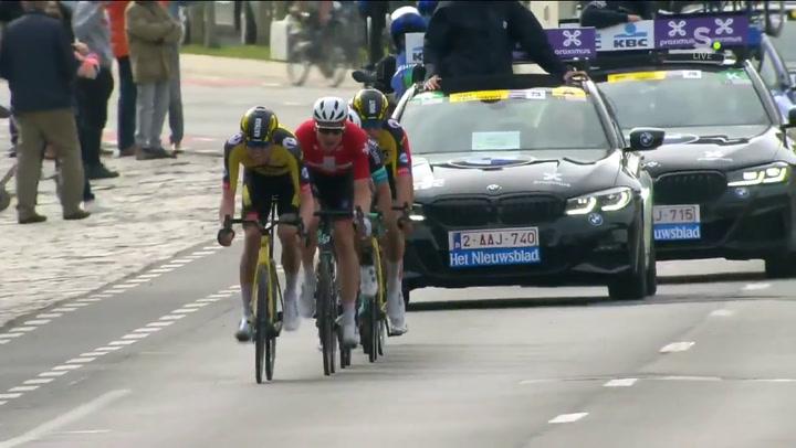 Victoria incontestable de Van Aert al sprint en la Gante-Wevelgem