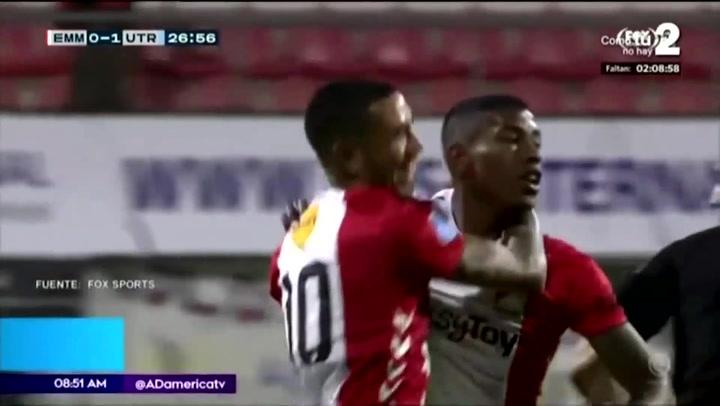 Mira el golazo de tiro libre que marcó Miguel Araujo con el FC Emmen