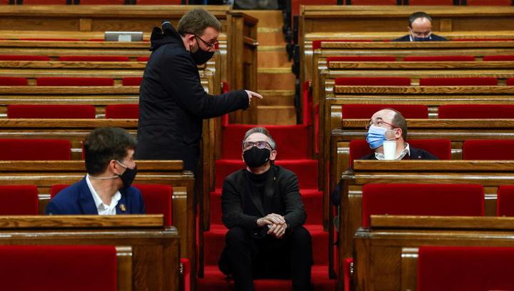 Reunión del Govern con los partidos catalanes
