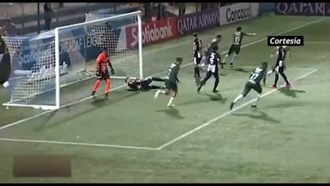 Mario Martínez anota el 1-0 del Marathón ante Diriangén FC por la Liga Concacaf