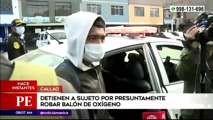 Callao: Detienen a venezolano acusado de robar balón de oxígeno en los exteriores de Criogas